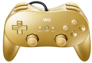 WII CLASSIC PRO CONTROLLER GOLD